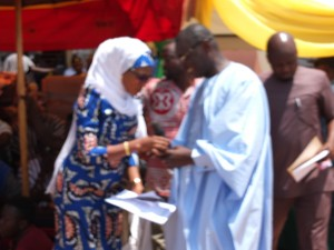 Hon Mariam receiving the LI from the Deputy Minister of Energy, Hon Dr, Mohammed Amin Anta