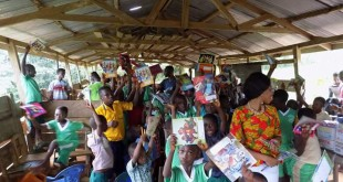 Figure 4: Lintel Aid Ghana donated teaching and learning materials to APERPS